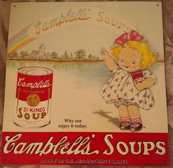 LIMITED EDITION Campbell's Soup kids metal sign 1993 by HammieLees, $15.00