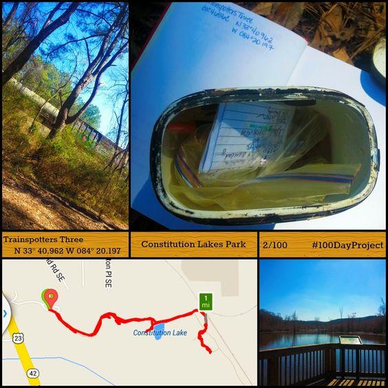 Nerd Llama: Geocache 100 : Constitution Lake Park 2 & 3