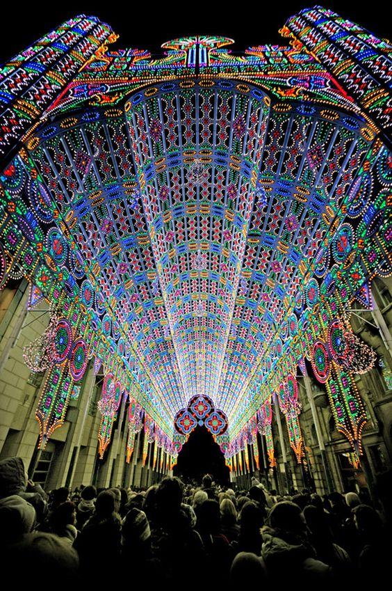 Light festival Bélgica, catedral
