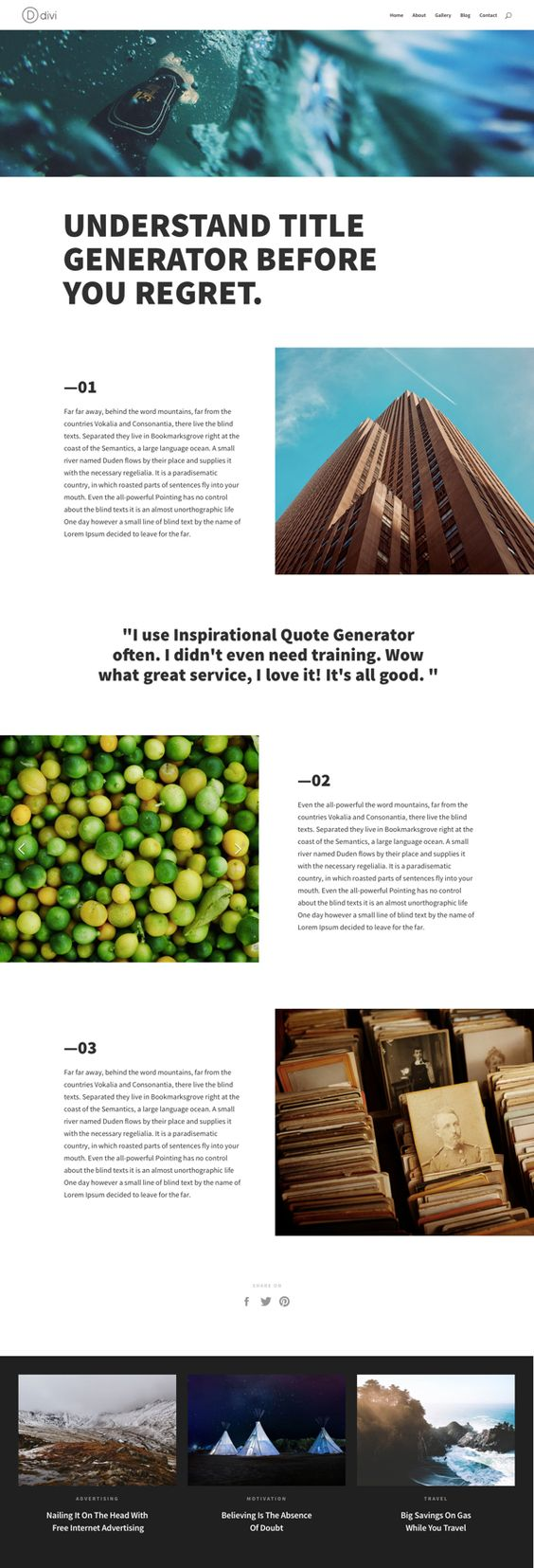 Inspirational Quote Generator Divider Layouts For Fun And Profitbrought To Youdivi