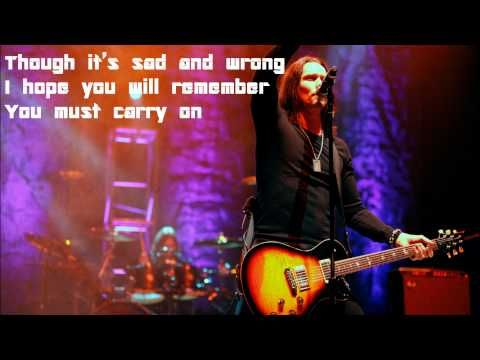 I Know It Hurts By Alter Bridge Lyrics Youtube Alter Bridge