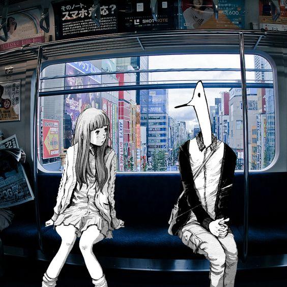 おやすみプンプン 電車に乗るプンプンと愛子ちゃん)