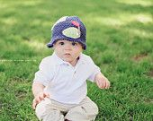 Golf for Babies Boys Hat Golf 100% USA Grown Cotton Crochet  Perfect Fathers Day Gift. 3/6 Month size ready for IMMEDIATE DELIVERY. $18.95, via Etsy.