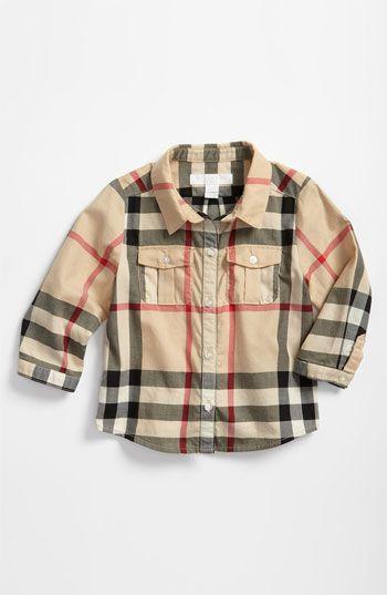 Burberry Woven Shirt (Infant)   Nordstrom