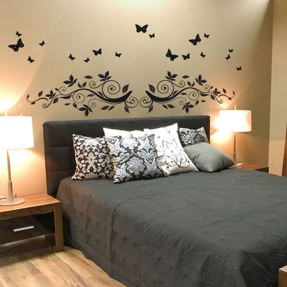 stickers and papillons on pinterest. Black Bedroom Furniture Sets. Home Design Ideas