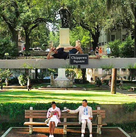 """Recreate """"Forrest Gump"""" in Chippewa Square!"""