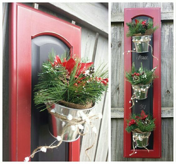 Cabinet Doors Christmas Decor And Cabinets On Pinterest
