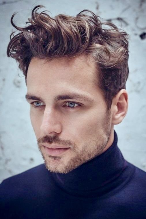 Trendy Hairstyle Curly Waves On Top Short Sides Curly Hair Men Wavy Hair Men Mens Hairstyles Short