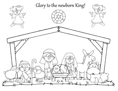 Nativity coloring pages How great are these My daughter would