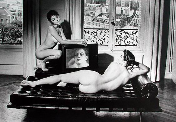 After Velazquez in my Apartment, Paris, 1981  by Helmut Newton