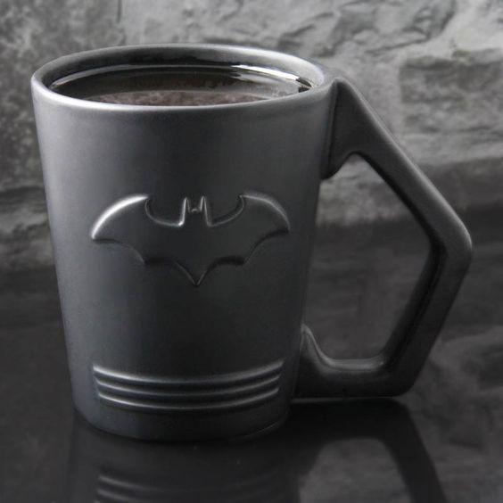 A sleek and stylish drinking mug celebrating Gotham City's famous crime fighting…