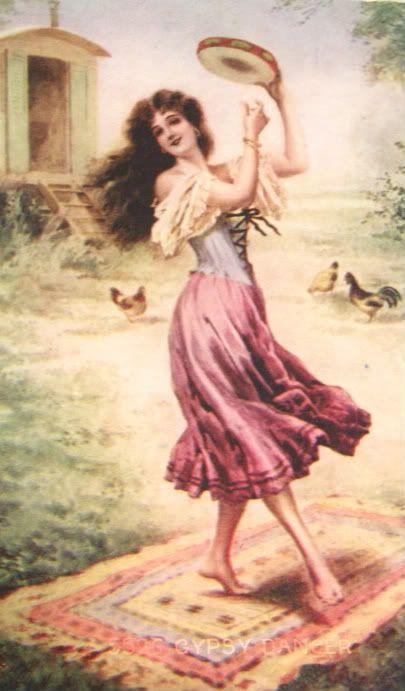 Gypsy:  #Gypsy with tambourine.