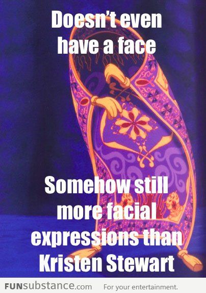 The Magic Carpet: More expressions than Kristen Stewart