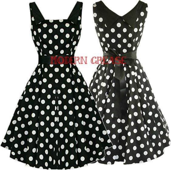 Black dress with white hearts