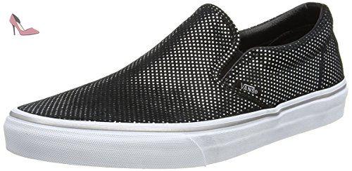 Vans UA Classic Slip-on, Sneakers Basses Femme, Noir (Metallic Dots Silver/Black), 37 EU