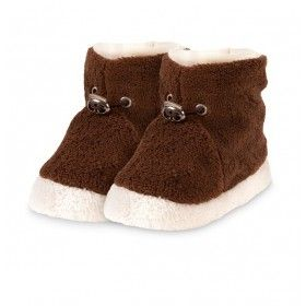 Baby Winterschuhe Fleece Braun