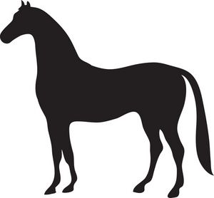 free horse clip art image black silhouette of a beautiful strong clipart clipart strong arm