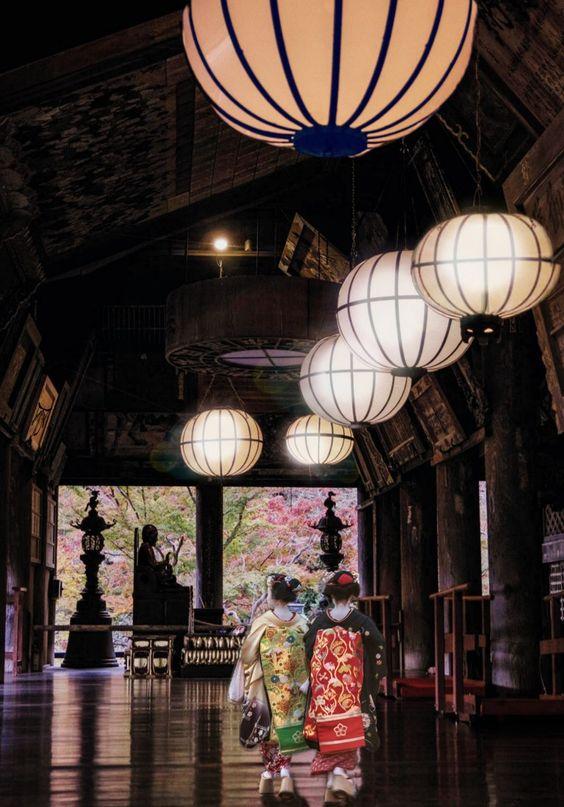 舞妓さんの日本の景色の壁紙