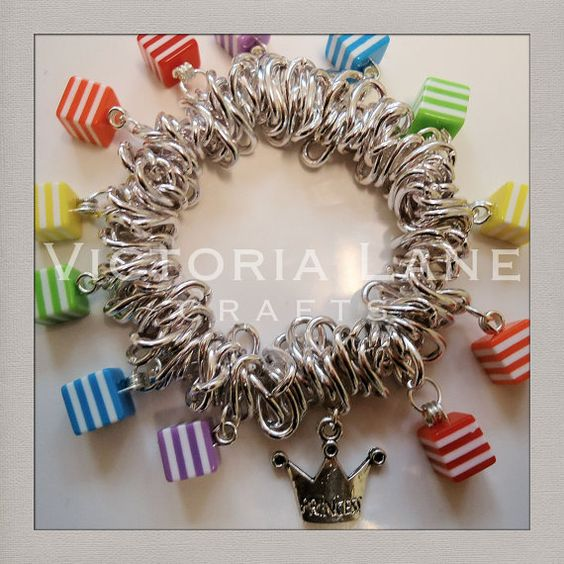 Beaded Silver Effect Stretch Links Bracelet by VictoriaLaneCrafts, £8.50