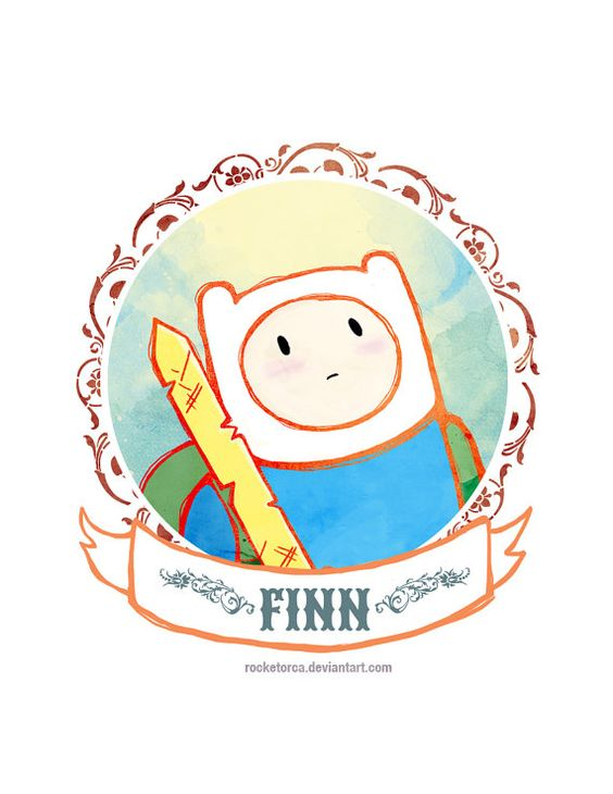 Victorian Portrait Finn the Human Adventure Time 85 x by TheQTique, $10.00