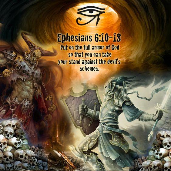 The Armor Of God. Ephesians 6:10-18 Bible Quote, Spiritual