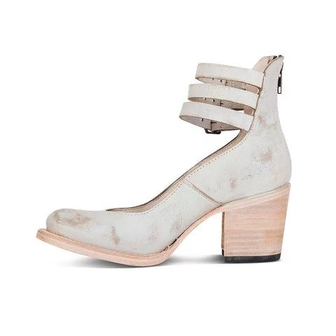 Casual Brass Buckle Chunky Heel Sandals