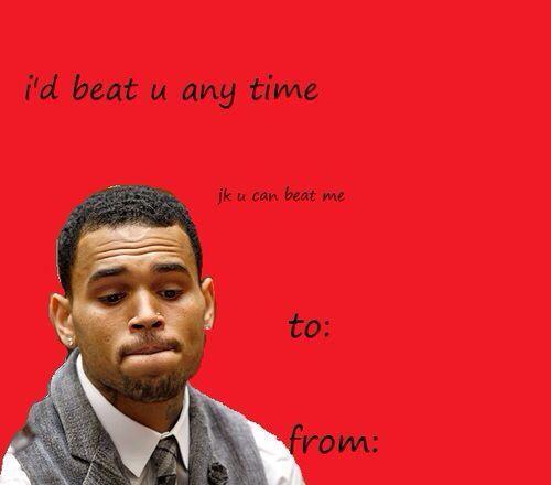 Chris Brown Valentines Day Card Valentine Day Cards Pinterest - valentines day cards