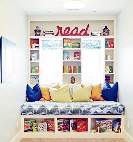 I'd like to do this in the kids play room.  Jason - benches & built ins.  Michelle - pillows & bench cover.