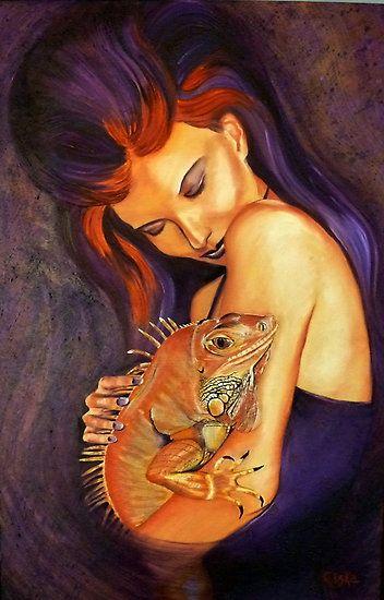 """Iguana"". Oil on Canvas - Painted by Ciska."