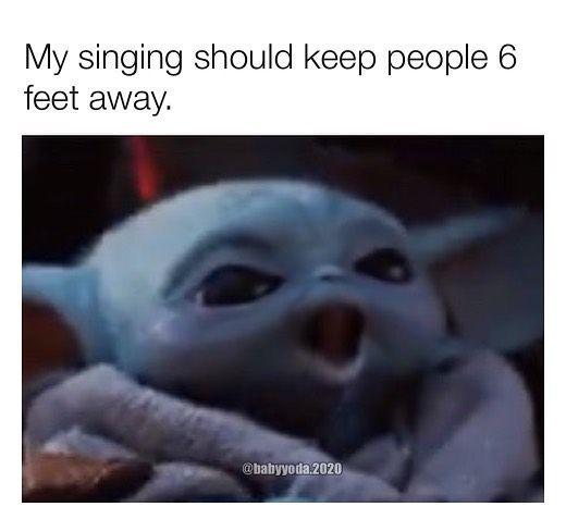 Baby Yoda One On Instagram Trying To Hit That Mariah High Note Please Follow Babyyoda 2020 Babyyoda Babyyodameme Babyyodamem Yoda Funny Yoda Meme Yoda
