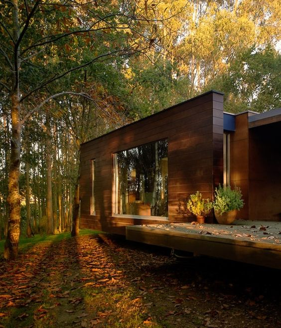 Wood house concept harmony with nature i would love a modern house like this in the woods - Houses woods nature integrated ...