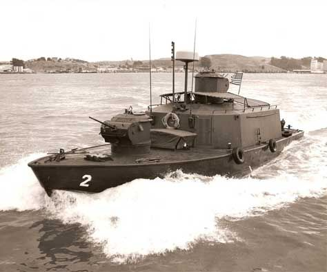 The first ASPBs (Assault Support Patrol Boats) destined to the Mobile Riverine Force arrive at Vung Tau.
