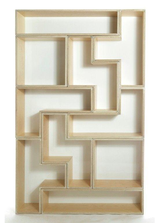 Tetris bookcase awesome shelving libraries for Tetris bookshelf
