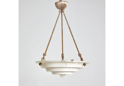 Alabaster Pendant With Matching Canopy Sweden 1930 S Chandeliers