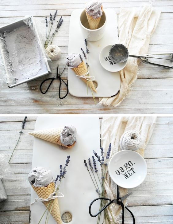 twiggstudios: no churn blueberry and lavender ice cream