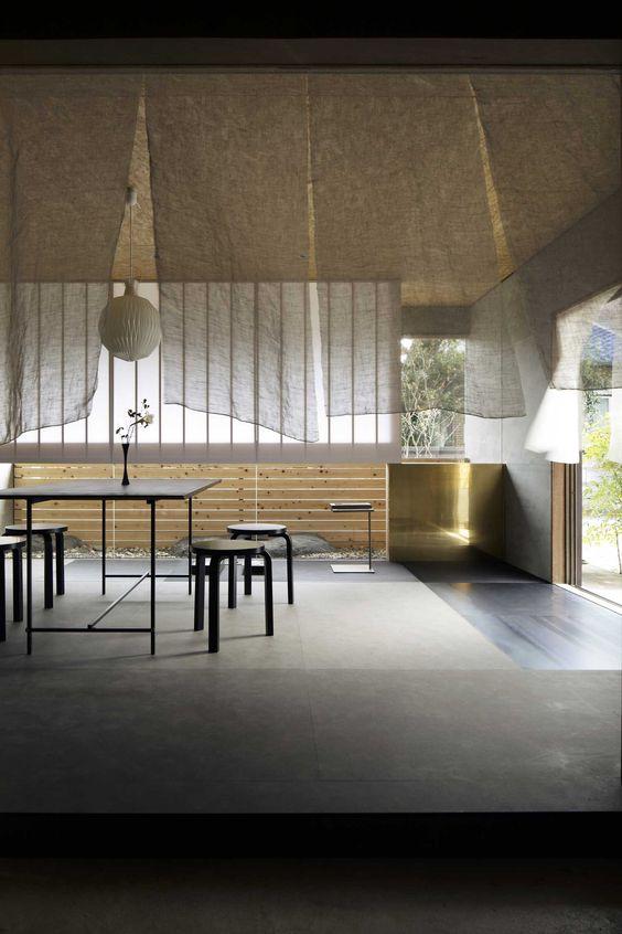 Büro Einrichtung Kunden empfangsraum Japan Gestaltung Ideen