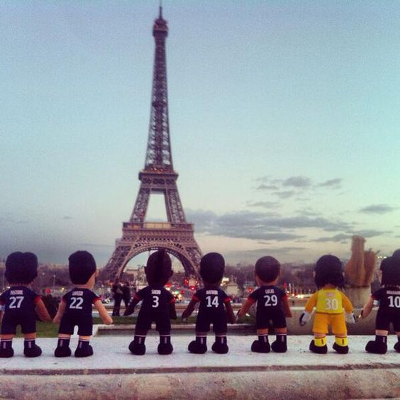 #psg #paris #eiffeltower #toureiffel #ibrahimovic #lavezzi #lucas #poupluche - @poupluche_fans - 8 mars 2014