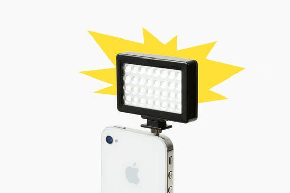 iPhoneのヘッドフォンジャックにストロボを『Pocket Spotlight』