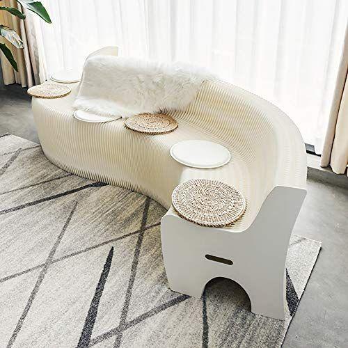 Zzpaper Creative Multifunction Furniture Folding Sofa White Kraft