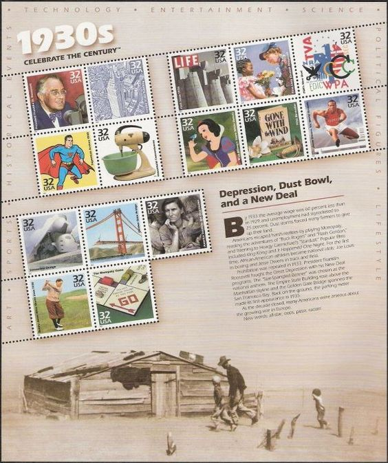 USPS Celebrate the Century Stamps - including Gone With the Wind - GWTW