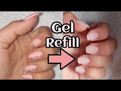 Tips And Tricks On How To Do A Nail Refill Using Gel Youtube Gel Nail Tips Nails Gel Overlay