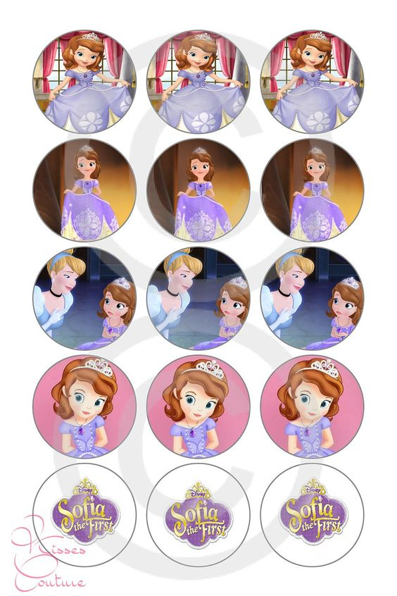 Sofia The First Inspired Bottle Cap Images 4x6 by KissesCouture, $1.51