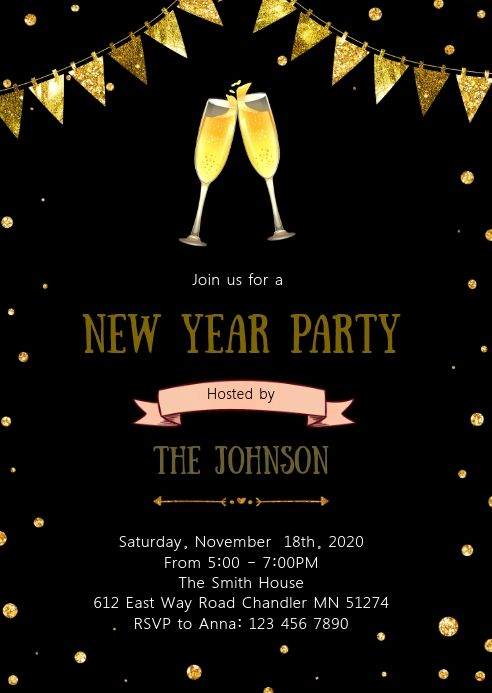 Christmas New Year Party Invitation Party Invite Template Printable Invitation Templates Bbq Party Invitations