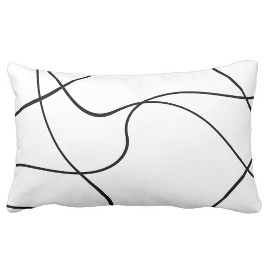 Lumbar Pillow Abstract Lines Black And White Zazzle Com Lumbar Pillow Pillows Abstract Lines