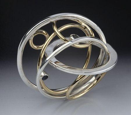 Ring   Elizaveta Gnatchenko.  Silver and gold