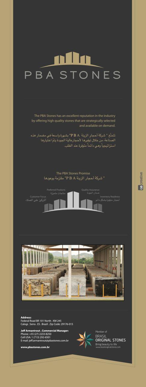Painel para Feira de Granito em Dubai