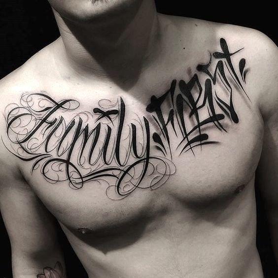 Tatuajes en el pecho nombres