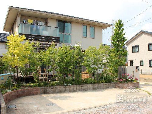 庭 外構施工例 詳細 庭 エクステリア 目隠し 庭
