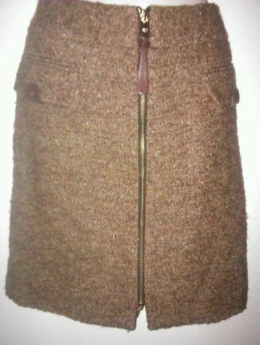 Vittadini Women's Wool Front Zipper Career Skirt Size 12 Adrienne Vittadini