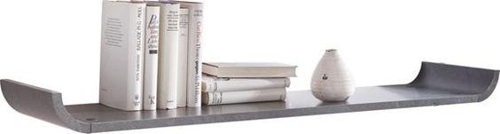 Dieses Wandboard rundet Ihr Wohnzimmer chic und modern ab! Seine dezenten seitlichen Rundungen umspielen raffiniert Ihre kreativen Dekoideen - so entsteht ein cooles wie wohnliches Design! Durch die edle Schiefernuance werden Ihre persönlichen Souvenirs, Kerzen oder Bücher elegant in Szene gesetzt. Durch die freie Dekowahl haben Sie die Gelegenheit, Ihr Wohnzimmer noch individueller zu gestalten. Ob als Kontrastpunkt an einer weißen Wand oder als kleiner Akzent vor